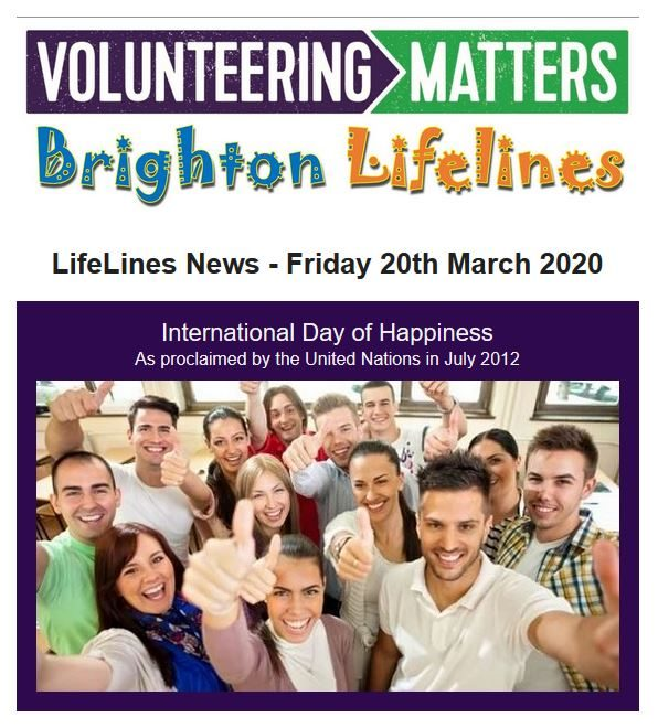 Lifelines News - Friday 20th March 2020