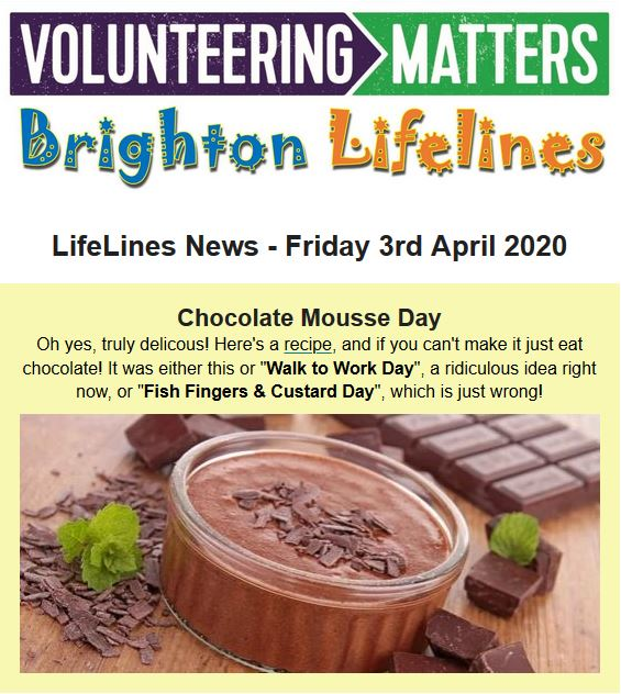 Lifelines News - Friday 3rd April 2020