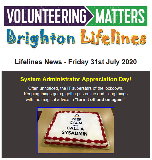 Lifelines News - Friday 31st July 2020